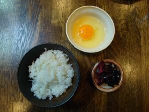 egg sauce over rice